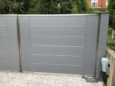Installing stainless steel electric gates in Marlow