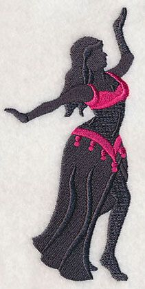 Belly Dance Silhouette 3  Embroidered by forgetmeknottreasure
