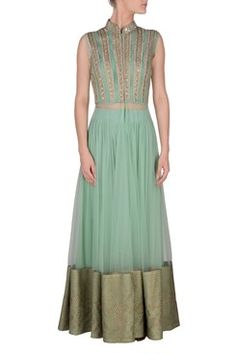 Sea green embroidered panel yoke front open long cape with georgette palazzo By RIDHIMA BHASIN .Shop now-www.carmaonli... #carma #carmaonlineshop #style #fashion #designer #indianfashion #RIDHIMABHASIN #couture #shopnow #indianwear #pretty #girly #onlineshopping #instashop #beautiful #outfitpost #ootd #ootn #partywear #eveningwear #whattowear  #OOTN #summerdressing