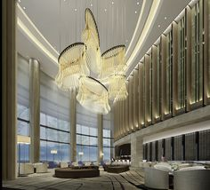 New Pullman hotel opens in Shanghai Hotel Lobby Design, Luxury Hotel Design, Luxury Interior Design, Luxury Chandelier, Luxury Lighting, Chandeliers, Pullman Hotel, Western Restaurant, Public Hotel