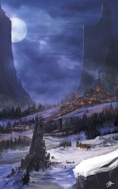 City in the Snowy Mountains by Jade Kwon