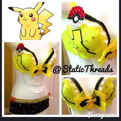 Pokemon Pikachu Rave Outfit Order from Etsy StaticThreads