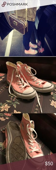 Baby pink converse! Baby pink converse. Good condition. Worn a couple times. Super adorable on. Converse Shoes Sneakers