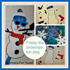 Frosty the snowman Christmas Bath Fun