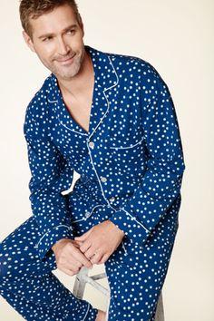 b1960c2bdb Bedhead Men s Demi Dot Classic Stretch Pajama Set in Navy