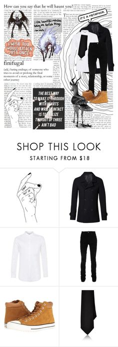 """Gods and monsters"" by moriar-tea ❤ liked on Polyvore featuring Sharpie, Witchery, Topman, AMIRI, Converse, Barneys New York, men's fashion and menswear"