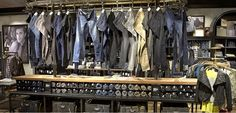 """12' 6"""" Retail clothing merchandising table for sale!"""