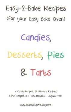 Easy 2 Bake  EASY BAKE OVEN Recipes Booklet for by SweetBitesMs, $4.95