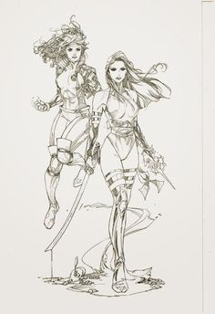 Rogue & Psylocke by Kenneth Rocafort