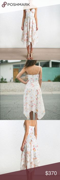 Zimmermann Belle Bustier Dress size 1 New without tags. Beautiful, sold out super popular dress Zimmermann Dresses Midi