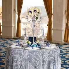 We've long had in mind to use our Winter Fairytale collection in a styled shoot… Wedding Decorations, Table Decorations, Candelabra, Event Design, Wedding Designs, Fairytale, Hand Painted, Candles, Luxury