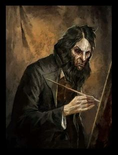 Light Along the Inverse Curve, Sokolov's self portrait. Dishonored painting