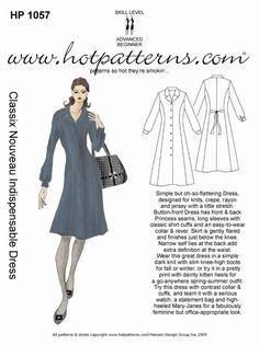 Hot Patterns 1057 - Classix Nouveau Indispensible Dress