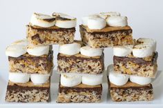 Rice Crispy Smores ... it makes perfect sense! So cute and yummy