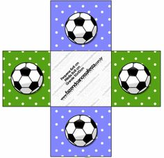 Fútbol: Cajas para Imprimir Gratis.                                                                                                                                                      Más