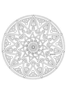 """Coloriage mandala 19 sur Hugolescargot.com - Hugolescargot.com 