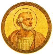 """45.- San León I (el grande) (440-461)  Italiano de Toscana. Elegido el 29.IX.440, murió el 10.IX.461. Fue llamado """"El Grande"""" por la energía usada para mantener la unidad de la Iglesia. Proclamó el 4 y 5 concilio Ecuménico. Definió el misterio de la Encarnación. Solo e indefenso arrestó el """"fragelo de Dios"""" (Atila) camino de Roma."""