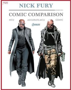 """9,062 Likes, 91 Comments - • Accurate.MCU • mcu fanpage (@accurate.mcu) on Instagram: """"• NICK FURY JR - COMIC COMPARISON • I can't believe i'm doing this comparison this late  I…"""""""