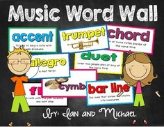 "Need a bright and colorful music word wall for your music room? You'll love the cards we created!Your download includes 48 colorful music word wall cards with definitions of terms and pictures of the instruments.These can also be used as vocabulary flashcards!Perfect for any elementary school music room!""Music Word Wall"" label is included in the download.Words Include: *Please do not give a low rating based on words you wish were included."