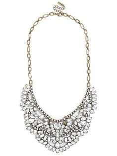 Loveeee this necklace. Crystal Rapunzel Bib [Baublebar: $58] *Always have coupons and discounts available on Retailmenot
