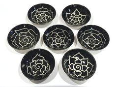 Black Porcelain Lotus Dish by PaulaFocazioArt on Etsy