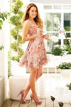 Pretty in pink, loving this sundress