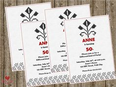 Shop for on Etsy, the place to express your creativity through the buying and selling of handmade and vintage goods. 40th Birthday Invitations, 50th Birthday, Party Invitations, Mexican Party, Diy Party, Awesome, Creative, Handmade, Etsy