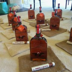 Groomsmen gift....KY wedding bourbon and cigars