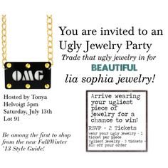 """ugly jewelry invite"" by andrea-nickels-barnett on Polyvore"