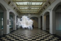 Nimbus Munnekeholm by Berndnaut Smilde (2012) - this guy uses smoke and science to create indoor clouds!