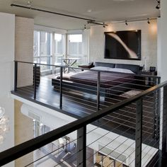 Indoor Cable Railing Design, Pictures, Remodel, Decor and Ideas