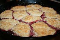 Deep South Dish: Iron Skillet Blackberry Dumpling Cobbler