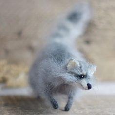 Agile fluffy raccoon :) I knitted it from quality mohair yarn💪🌿🌿🌿 Предлагаю шустро бегающего енота вам в ленту:)