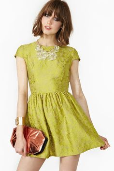 This dress will soon be in my closet. In love with chartreuse lately!