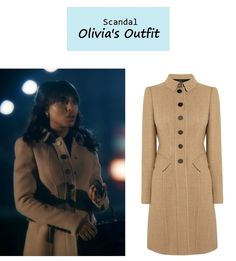 """October 12, 2013 @ 10:43pm Kerry Washington as Olivia Pope inScandal- """"Guess Who's Coming to Dinner"""" (Ep. 302). Olivia's Camel Coat:1. Vintage Prada Handbag.2. Burberry Woll Blend Coat $2,995sold outhere