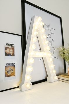 DIY Marquee Letter   23 Cute Teen Room Decor Ideas for Girls