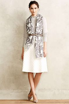Anthropologie - Dotted Jacquard Skirt