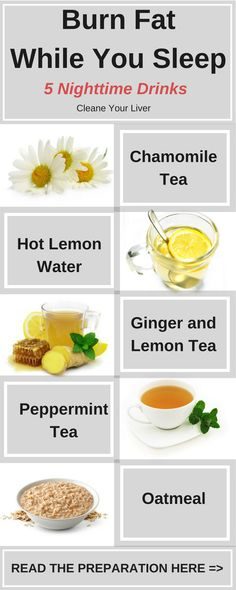 5 Nighttime Drinks To Cleanse Your Liver and Burn Fat While You Sleep #liverdetoxdiets