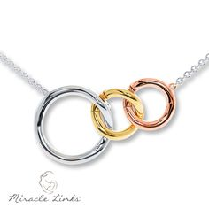 Miracle Links Necklace Sterling Silver 10K Two-Tone Gold