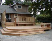 a multi-level deck design that would work great for our home!