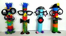 Fantasy figures & New Year garland - carnival crafts - my grandchildren and me Kids Crafts, Crafts For Teens, Diy And Crafts, Arts And Crafts, Circus Crafts, Carnival Crafts, Mardi Gras, Diy Butterfly Costume, Box Creative