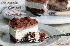 Cheesecake+al+Cioccolato+e+Riso+Soffiato,senza+cottura