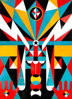 Roman Klonek - Polish illustrator in Dusseldorf, Germany. (geometric trend)