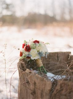 a winter wedding bouquet by Marius Bell Floral & Events! SNOWY ROMANTIC WINTER WEDDING INSPIRATION SHOOT