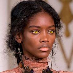 black women models in bikini panties string Beautiful Black Women, Beautiful Eyes, Pretty People, Beautiful People, African Beauty, Interesting Faces, Woman Face, Dark Skin, Brown Skin
