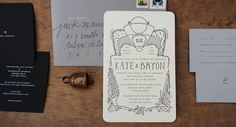 wedding paper goods: kate & bryon - hayley nichols