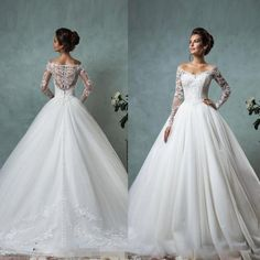 Off The Shoulder Long Sleeve Wedding Dresses White Lace Ball Gown 2016 Tulle Bridal Gowns Illusion Back Wedding Dresses Style Beautiful Ball Gown Wedding Dresses From Zlldress, $118.3| Dhgate.Com