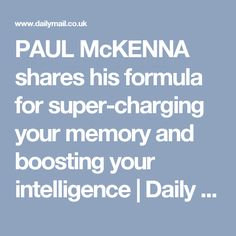 44 best paul mckenna images on pinterest in 2018 alternative ill bring out the genius in you in a major new series paul mckenna shares his formula for super charging your memory and boosting your intelligence fandeluxe Gallery
