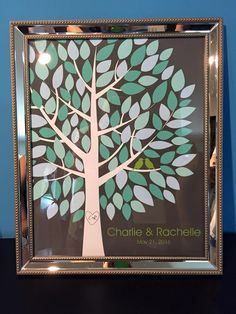 Wishwik Multi Wedding Tree | Guest Book Alternative | Modern Wedding | Customer Photo | Wedding Colors - Teal & Mint | peachwik.com