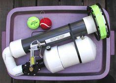 Spud Gunning Made Useful: Pneumatic Antenna Launchers High Tech Gadgets, Cool Gadgets, Tennis Ball Launcher, Air Cannon, Ham Radio Operator, Canon, Ham Radio Antenna, Homemade Weapons, Pvc Projects
